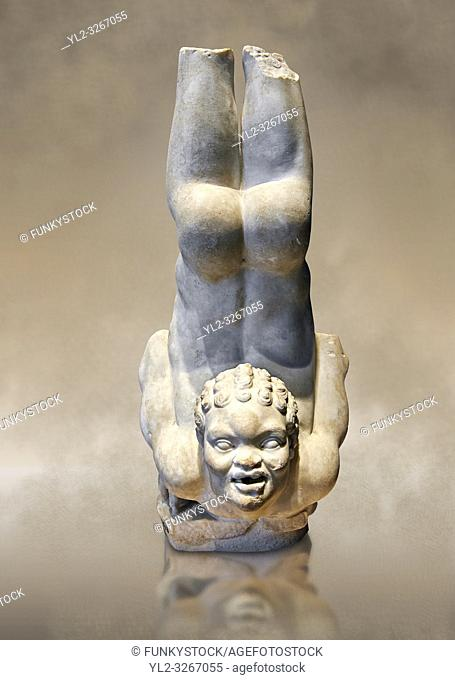 Roman statue of an African Acrobat from early Imperial period excavated from the Villa Patrizi, via Nomentana, Rome, Italy