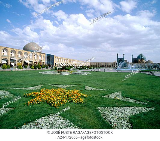 'Mirror of the World' square. Esfahan. Iran