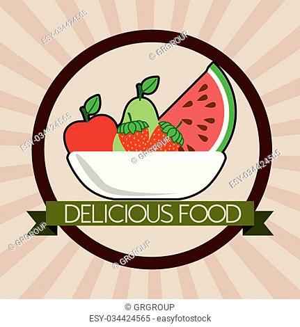 deliciousand good food design, vector illustration eps10 graphic