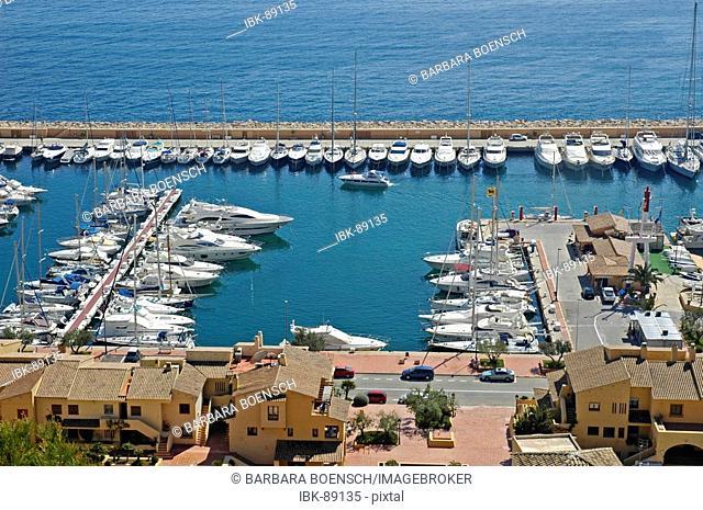 Boats in the marina of Campomanes, Marina Greenwich Port Esportiu, Altea, Costa Blanca, Spain