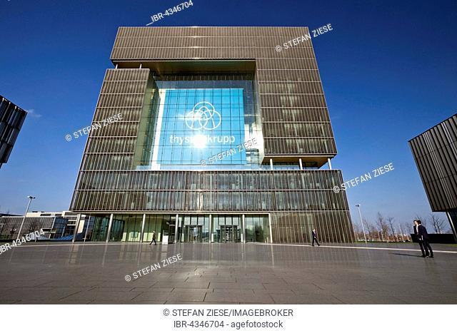Main building Q1 the corporate headquarters of ThyssenKrupp, Essen, Ruhr district, North Rhine-Westphalia, Germany