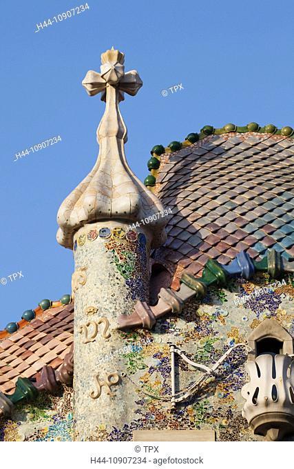 Europe, Spain, Barcelona, Casa Batllo, Gaudi, Tourism, Travel, Holiday, Vacation