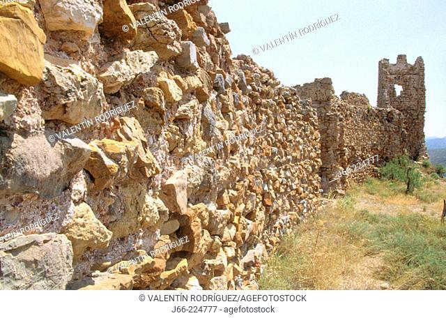 Ruins of an arabic castle. Sierra de Espadan , Castellon province. Comunidad Valenciana. Spain