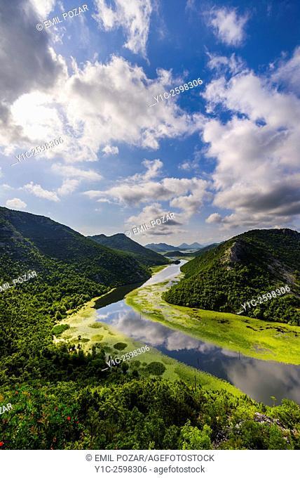 Rijeka Crnojevica NW of Skadar lake in Montenegro