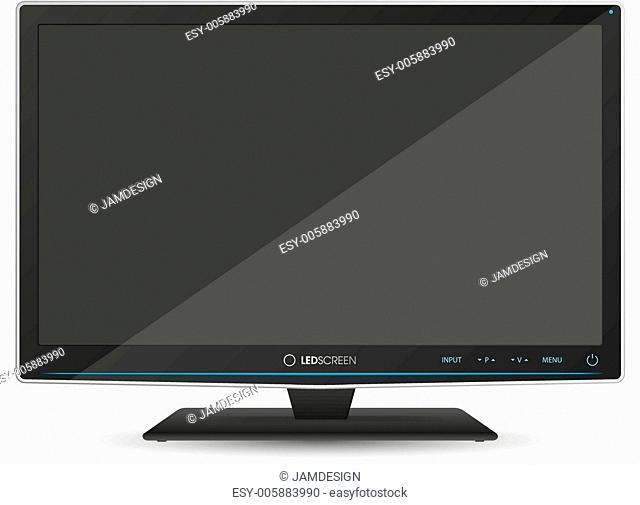 TV on White Background