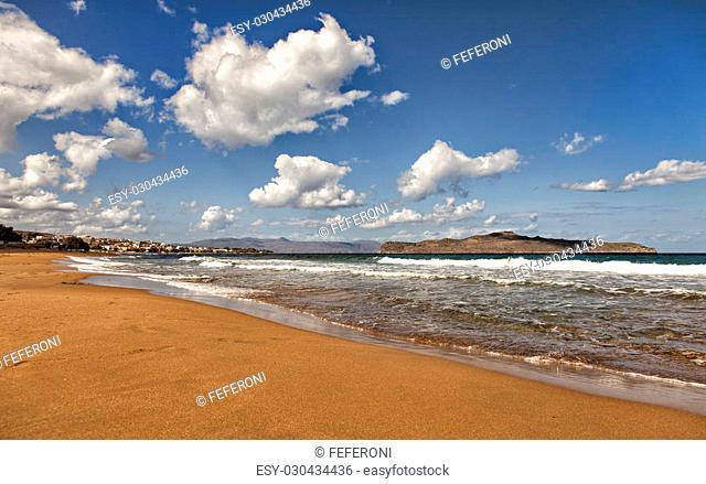 Image of a beatufil beach on Crete, Greece