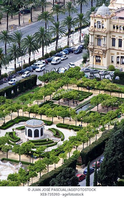 Paseo del Parque, Malaga. Andalucia, Spain