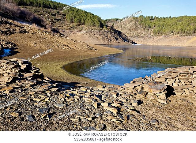 Vado reservoir in the Sierra Norte. Guadalajara. Castilla la Mancha. Spain. Europe