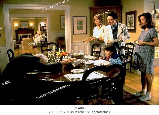 Dec 08, 1995; Hollywood, CA, USA; (left to right) STEVE MARTIN as George Banks, DIANE KEATON as Nina Banks, MARTIN SHORT as Franck Eggelhoffer