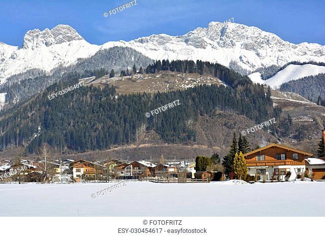 Austria, winterly landscape in Salzburg county