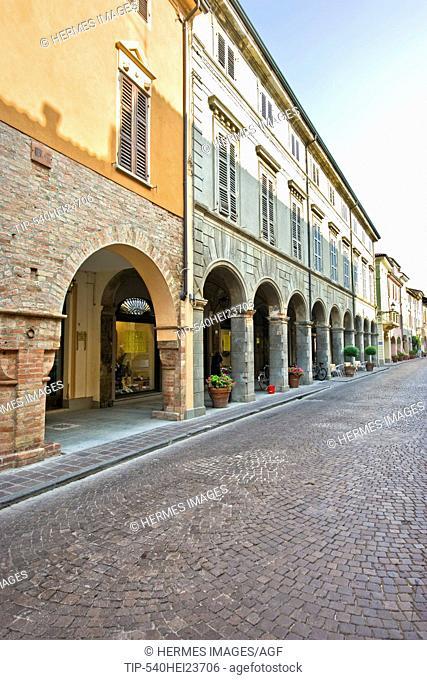Via Roma, Busseto, province of Parma, Emilia Romagna, Italy