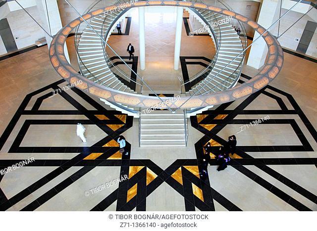 Qatar, Doha, Museum of Islamic Art, interior, I M  Pei, architect
