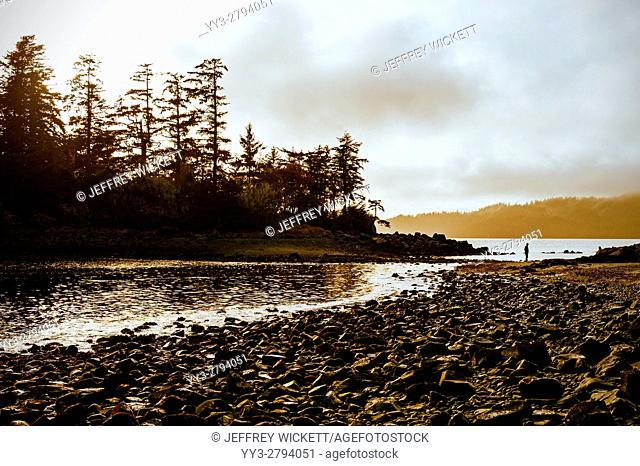 Magic Island at Halibut Point Recreation Area near Sitka, Alaska, USA