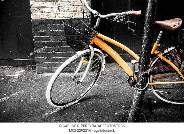Bicycle at Shoreditch in London, Europe