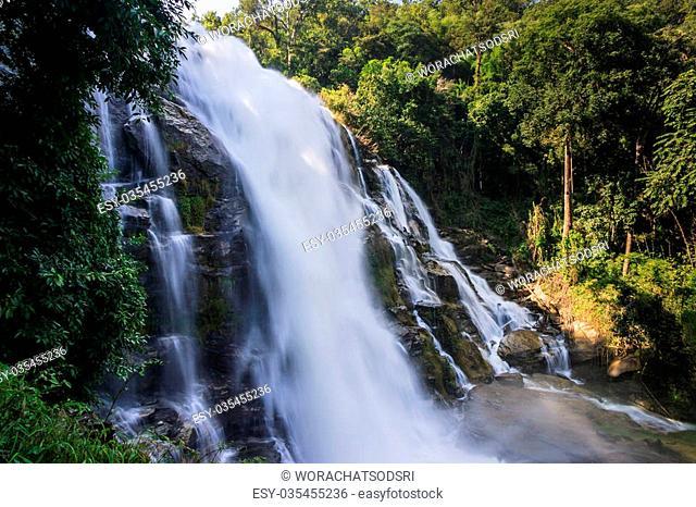 A beautiful waterfall in nature