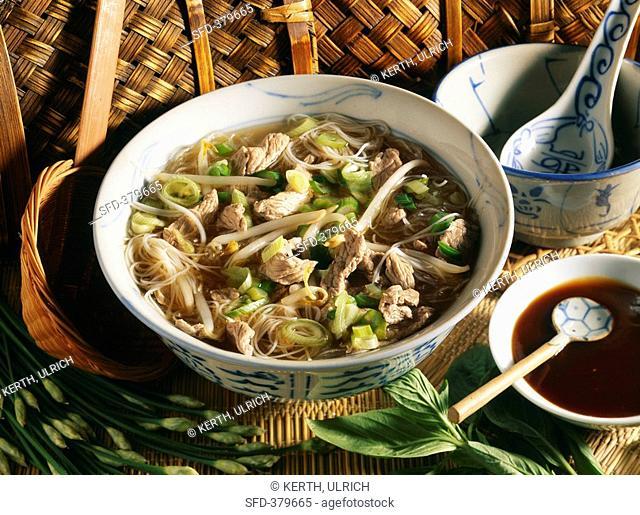 Hanoi beef soup Vietnam
