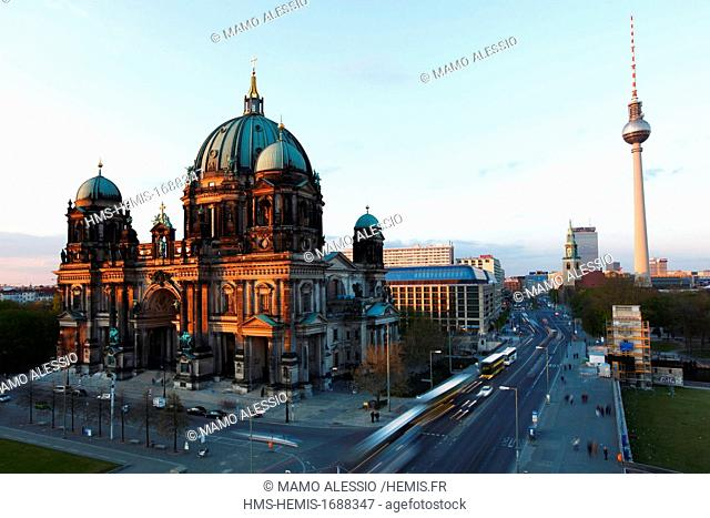 Germany, Berlin, Museum Island, listed as World Heritage by UNESCO, the Berliner Dom, cathedral in Berlin