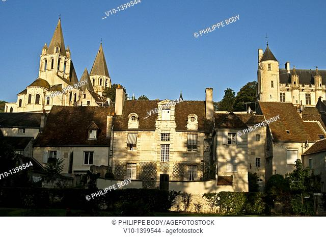 France, Indre et Loire, Loches, the Royal Palace and the Saint-Ours abbey