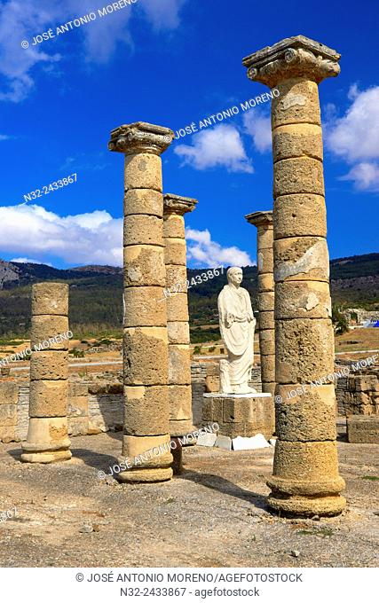 Bolonia, Baelo Claudia, Archaeological site , old roman city , Strait of Gibraltar Natural Park, Costa de la Luz, Cadiz, Andalusia, Spain, Europe