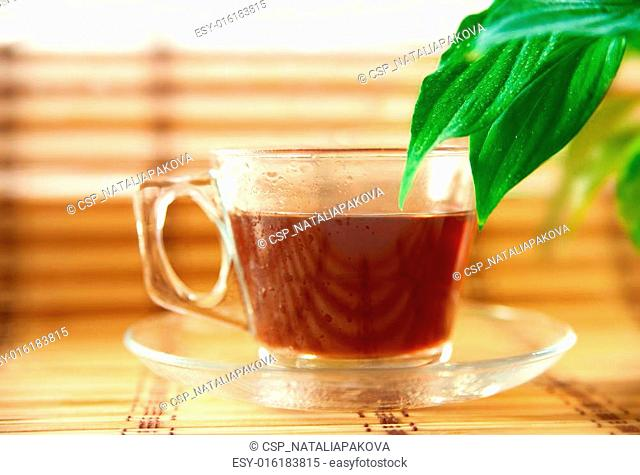 glass cup of herbal tea