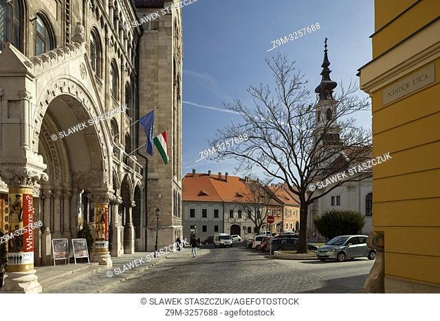 Hungarian National Archives in the Castle District of Budapest, Hungary