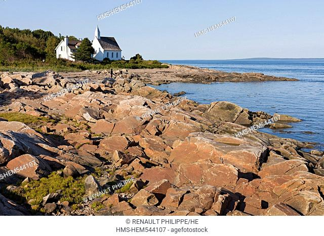 Canada, Quebec province, Charlevoix region, St Lawrence river raod, Port au Persil member of The Most Beautiful Villages of Quebec