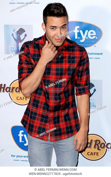 Release party for Prince Royce's new album 'Double Vision' at the Hard Rock Cafe Yankee Stadium Featuring: Prince Royce Where: Bronx, New York