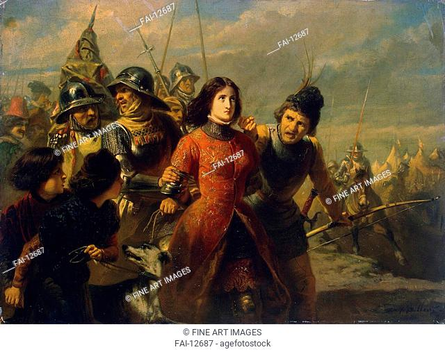 Capture of Joan of Arc. Dillens, Adolphe-Alexander (1821-1877). Oil on canvas. Romanticism. 1847-1852. State Hermitage, St. Petersburg. 52,5x72