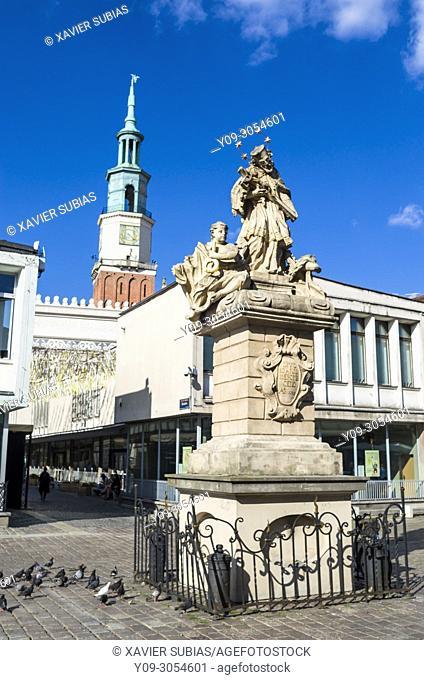 John of Nepomuk Monument, Old Town Square, Poznan, Poland