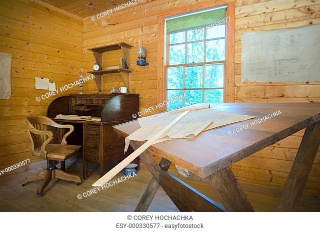 Architectural design and drafting office in Fort Edmonton, Alberta