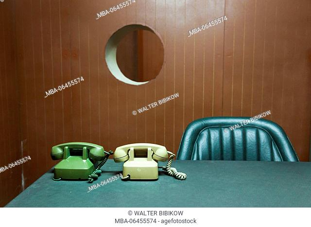 Vietnam, Ho Chi Minh City, Reunification Palace, former seat of South Vietnamese Government, underground bunker, office desk