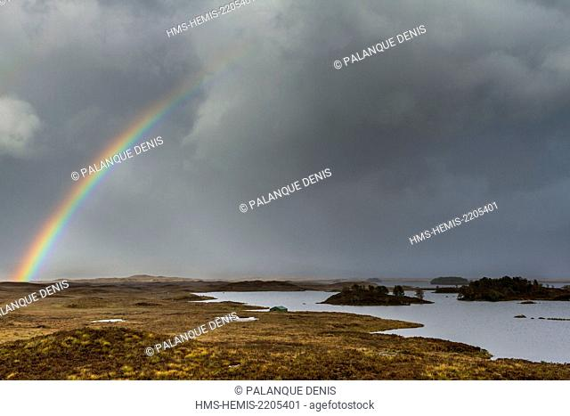 United Kingdom, Scotland, Highland, Rannoch Moor, Loch Bà, Ramsar convention