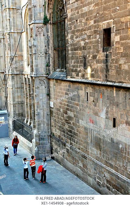 Santa Eulalia Cathedral, Gothic Quarter, Barcelona, Catalonia, Spain