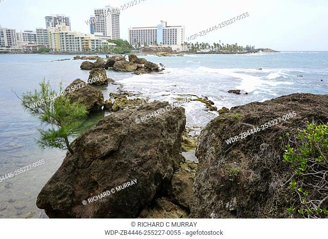 The Condado Plaza Hilton hotel Condado Lagoon Barrier Reef-San Juan; Puerto Rico
