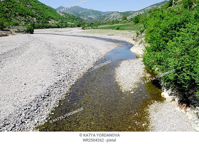 Dried river, Rhodope mountain, Bulgaria