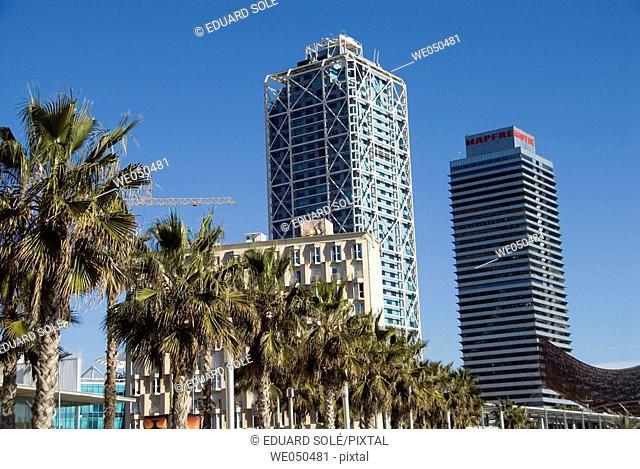 Hotel Arts and Mapfre Tower, Barcelona. Catalonia, Spain