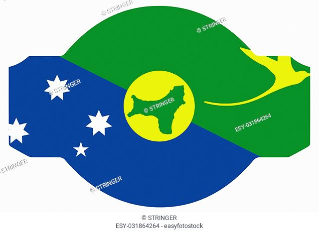 A Flag Illustration within a Sign of the country of Christmas Island