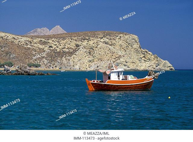 Klissidi, fishing boat  Anafi, Cyclades, Greece