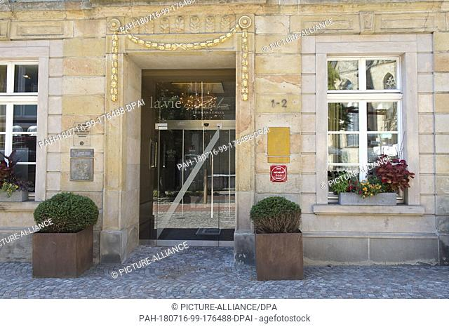 16 July 2018, Germany, Osnabrueck: Exterior view of the restaurant La Vie. The gourmet restaurant, which has been awarded three Michelin stars since 2011