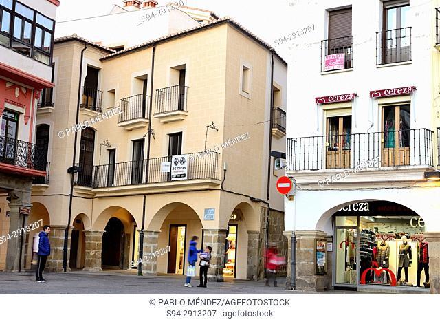 Main square of Plasencia, Caceres, Spain