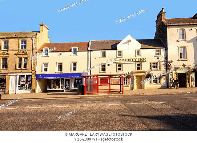 Streets of Peebles, Scotland
