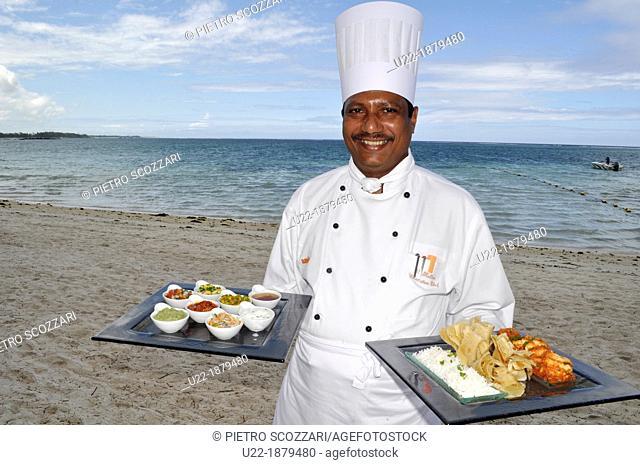 Mauritius, Palmar, chef at the Ambre Hotel