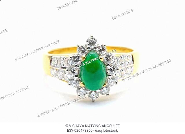 Jade Diamond Wedding Ring
