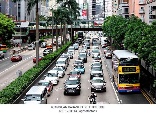 Traffic, Hong Kong, China, Asia