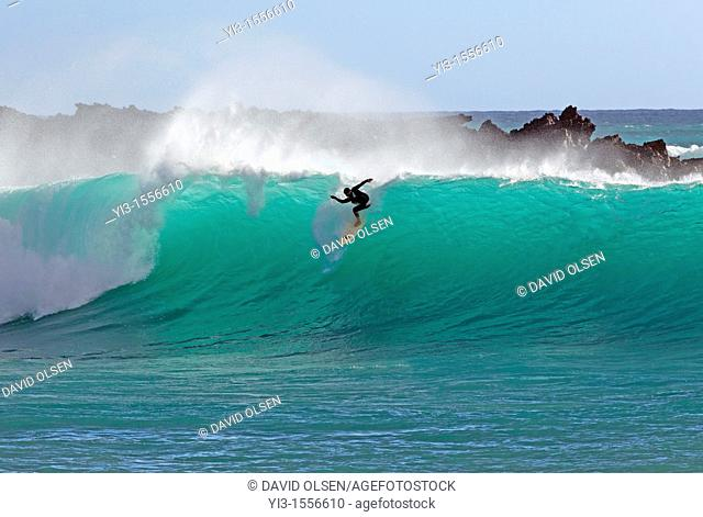 Beautiful backlit wave at Makena, Maui, Hawaii