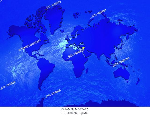 Syria on world map