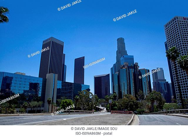 Modern skyscrapers in downtown Los Angeles, USA