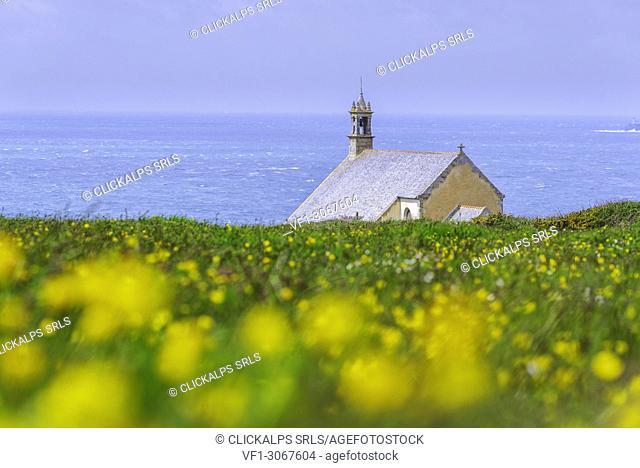 Saint-They chapel at Van point. Cléden-Cap-Sizun, Finistère, Bretagne, France