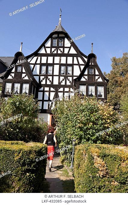 Dreigiebelhaus, Three gable house in Kroev, Rheinland-Pfalz, Germany
