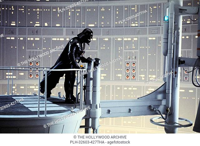 David Prowse as Darth Vader on the Cloud City Reactor set in Star Wars Episode V: The Empire Strikes Back (1980)